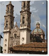 Cathedral In Taxco Mexico Acrylic Print