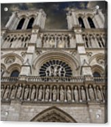 Cathedral Notre Dame Of Paris. France   Acrylic Print by Bernard Jaubert