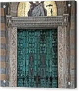 Cathedral Of Amalfi Door Acrylic Print