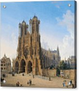 Cathedral Of Notre-dame At Reims Acrylic Print
