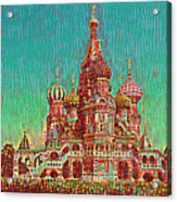 Cathedral Of St. Basil, Moscow Russia Acrylic Print