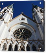 Cathedral Of St John The Babtist In Savannah Acrylic Print