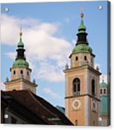 Cathedral Of St Nicholas In Ljubljana Acrylic Print