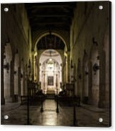 Cathedral Of Syracuse - Duomo Di Siracusa - An Ancient 2500 Years Old Greek Temple Acrylic Print