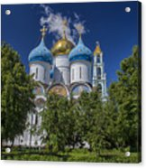 Cathedral Of The Assumption At Trinity Lavra Of St. Sergius In Sergiyev Posad, Russia Acrylic Print