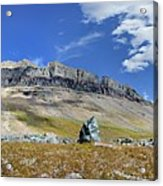 Cathedral Peak Over Waterton Valley Trail - Glacier National Park Acrylic Print