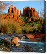 Cathedral Rock At Redrock Crossing Acrylic Print
