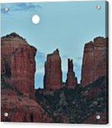 Cathedral Rock Moon 081913 E2 Acrylic Print