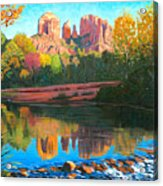 Cathedral Rock - Sedona Acrylic Print by Steve Simon