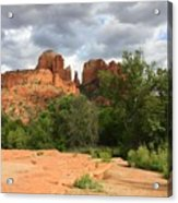 Cathedral Rock With Clouds Acrylic Print