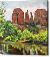 Cathedral Rocks In Crescent Moon Park Acrylic Print
