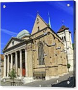 Cathedral Saint-pierre In The Old City, Geneva, Switzerland Acrylic Print