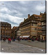 Cathedrale Notre-dame Or Our Lady Place, Strasbourg, France Acrylic Print