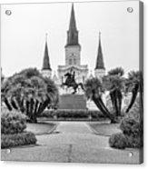 Catholic Basilica Jackson Sq Andrew Jackson New Orleans  Acrylic Print