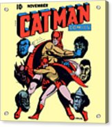 Catman And Kitten Square Format Acrylic Print