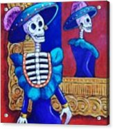 Catrina In The Mirror Acrylic Print