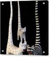 Cats At Night Acrylic Print