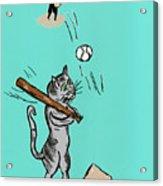 Cats Don't Play Baseball Acrylic Print