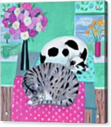 Cats In Spring Acrylic Print