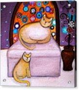 Cats Waiting Acrylic Print