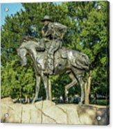 Cattle Drive Sculpture, Pioneer Plaza, Dallas, Tx. Acrylic Print