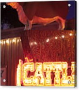 Cattlemen's Neon Stock Yards Acrylic Print