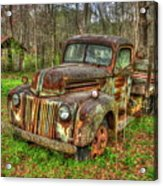 Caught Behind 1947 Ford Stakebed Pickup Truck Art Acrylic Print