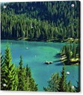Caumasee Lake Switzerland Acrylic Print