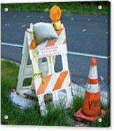 Caution, Road Work Acrylic Print