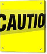 Caution Tape Acrylic Print