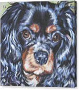 Cavalier King Charles Spaniel Black And Tan Acrylic Print by Lee Ann Shepard