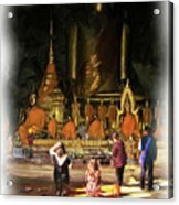 Cave Of The Bat Temple 1 Acrylic Print