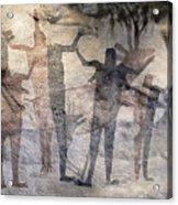 Cave Painting Of Prehistoric Man Acrylic Print