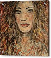Cave Woman Acrylic Print