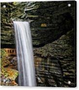 Cavern Cascade In Watkins Glen Acrylic Print