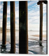 Cayucos Pier Acrylic Print by Sharon Foster
