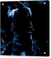Cdb Winterland 12-13-75 #11 Enhanced In Blue Acrylic Print