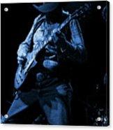 Cdb Winterland 12-13-75 #51 Enhanced In Blue Acrylic Print