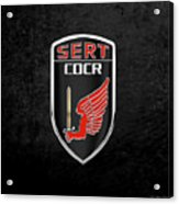 C.d.c.r Special Emergency Response Team - S.e.r.t. Patch Over Black Acrylic Print