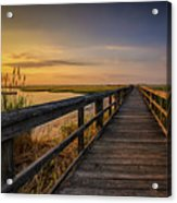 Cedar Beach Pier, Long Island New York Acrylic Print