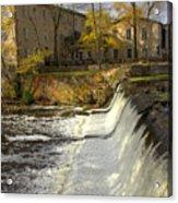 Cedar Creek Dam Acrylic Print