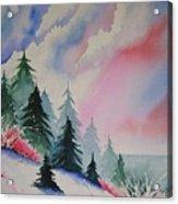 Cedar Fork Snow Acrylic Print