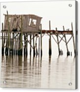 Cedar Key Structure Acrylic Print by Patrick M Lynch