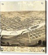 Cedar Rapids Iowa 1868 Acrylic Print