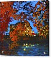 Cedarburg Mill At Night Acrylic Print