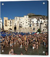 Cefalu Acrylic Print by Robert Lacy