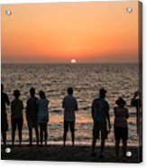 Celebrating The Sunset Acrylic Print