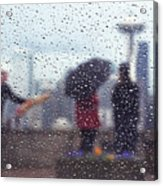 Celebration In Rain A036 Acrylic Print