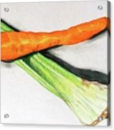 Celery And Carrot Together Acrylic Print