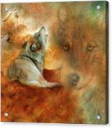 Celestial Wolves 2 Acrylic Print